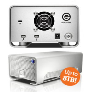 G-TECH G-RAID Removable 16TB Thunderbolt 2 & USB 3.0 Silver EMEA